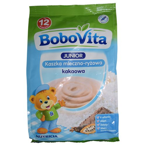 Bobovita Instant Milk and Rice Cereal with Cocoa Flawour (230g /8.1 Oz)