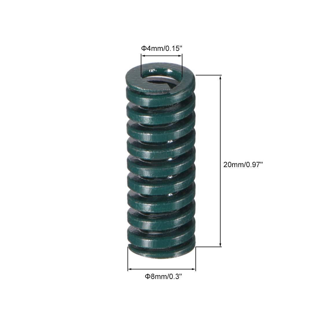color verde Molde de compresi/ón para estampaci/ón en espiral Sourcingmap 20 mm, 2 unidades
