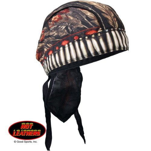 (Hot Leathers Bikers Premium Headwraps, NATIVE AMERICAN HEADDRESS- High Quality Micro-Fiber & Mesh Lining HEADWRAP )