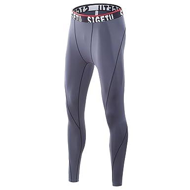 Rera Herren Sport Leggings Lang Compression Tights Hose Schnelltrocknend Männer  Funktionswäsche Pants 639fc16727