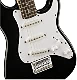 "Squier by Fender ""Mini"" Strat Beginner Electric Guitar, Rosewood Fingerboard - Black"