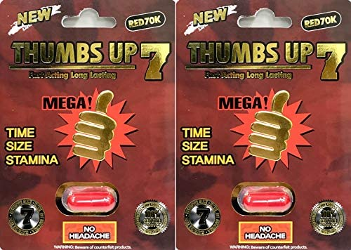 THUMBS UP 7 Male Enhancing Natural Performance Pill The New Most Effective Natural Amplifier for Performance, Energy, and Endurance Red Red