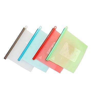 Bolsas de silicona reutilizables de almacenamiento de ...