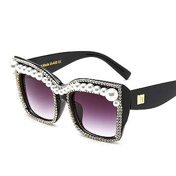 BCD Gafas de Sol de Las Mujeres de Gran tamaño Perla ...