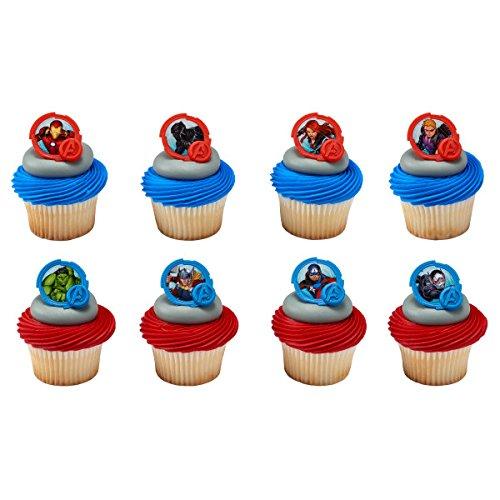 National Cake Supply Marvel Avengers Mightiest Hero Cupcake Rings 24 Count SG/_B07BJH7DC1/_US