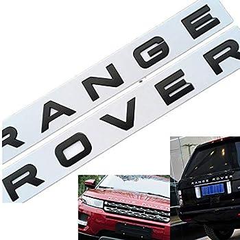 Gloss Silver RANGE ROVER LETTERS HOOD TRUNK TAILGATE EMBLEM BADGE NAMEPLATE NEW