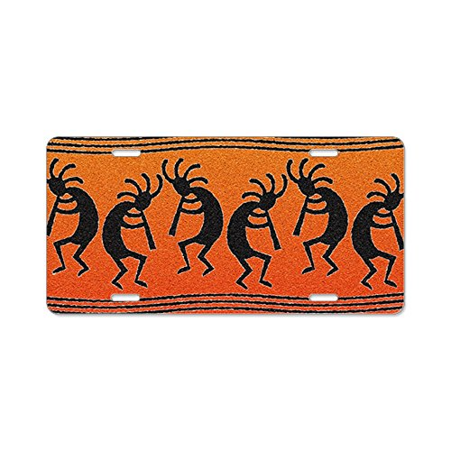 CafePress - Southwest Kokopelli Pattern - Aluminum License Plate, Front License Plate, Vanity Tag