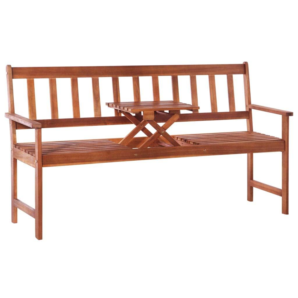 Tidyard Banc de Jardin/Terrasse avec Table Escamotable en ...