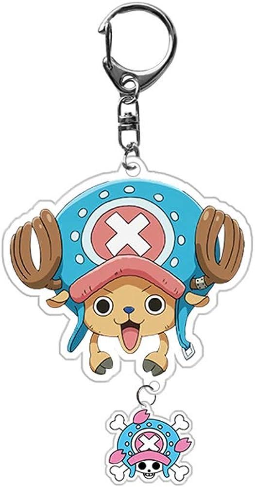 Dekoration f/ür Tasche//Rucksack//M/äppchen ALTcompluser Anime One Piece Schl/üsselanh/änger Doppelseitig Schl/üsselbund Acryl Anh/änger