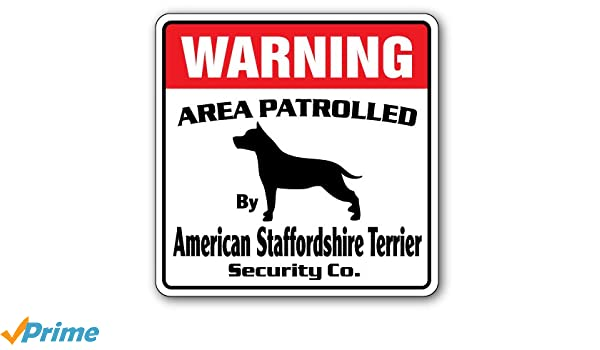 AMERICAN STAFFORDSHIRE TERRIER DOG ALUMINUM ST SIGN  Free shipping