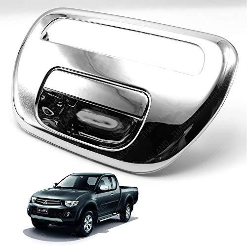 Powerwarauto Rear Tailgate Tail Gate Handle Chrome With Light Lamp Brake Hole For Mitsubishi Triton L200 MN ML UTE Truck 2 Doors 4 Doors 2006 2007 2008 2009 2010 2011 2012 2013