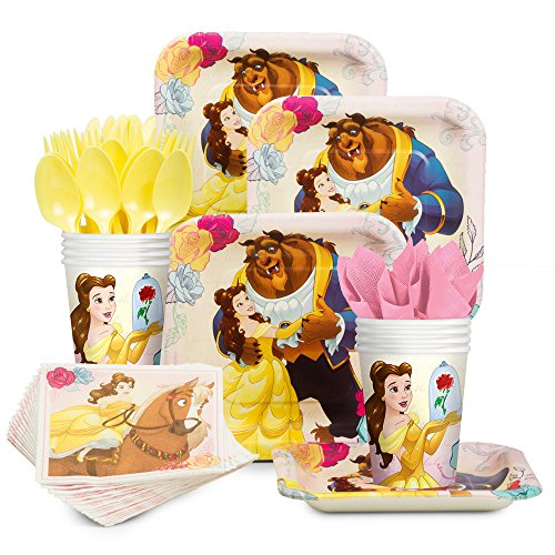 Costume SuperCenter Beauty and the Beast Standard Tableware Kit (Serves 8) -