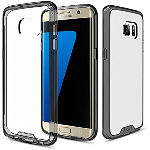 Galaxy S7 Edge Case, J&D [Crystal Clear] [Slim Fit] Anti-Scratch Clear Back Panel + TPU Bumper Slim Protective Case for Samsung Galaxy S7 Edge (Fusion Black) Sales