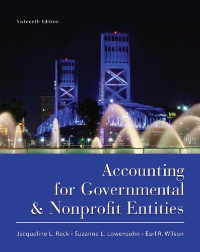 Pdf Business Accounting for Governmental and Nonprofit Entities
