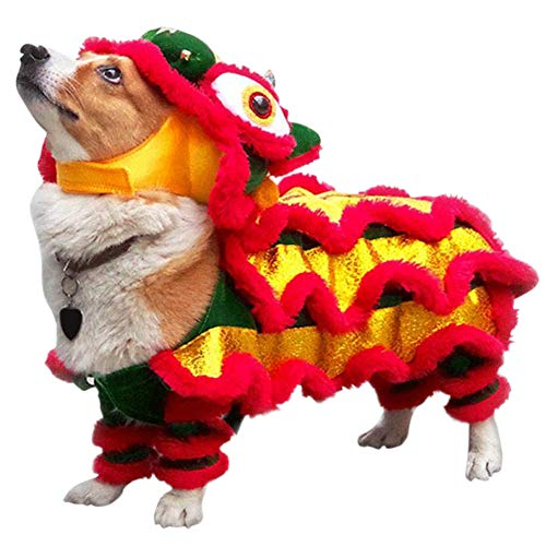 Yinrunx Dog Costume Lion Dance Dragon Clothes,