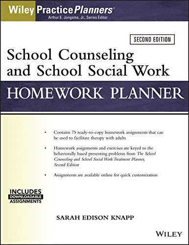 School Counseling and Social Work Homework Planner (W/ Download) (Planner Treatment Social Work)