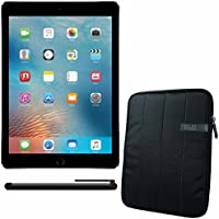 APPLE 9.7-inch iPad Pro Wi-Fi + Cellular 32GB - Space Grey MLPW2CL/A + 10.1  Padded Case For Tablet + Universal Stylus for Tablets Bundle