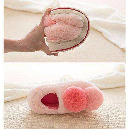 Pantoffel Baumwolle Innen Winter Damen Niedlich Warme Dicke Boden Schuhe Pattern 3