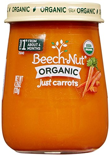 Beech-Nut Just Organic Stage 1 Purees - Just Carrots - 4.25 Oz - 10 pk