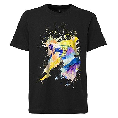 Surfer_IV schwarzes modernes Herren T-Shirt mit stylischen Aufdruck