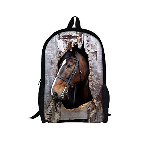 TOREEP Cool Horse Outdoor Animal School Backpack for Students/Children(Big) (Glamour Beaded Clutch)