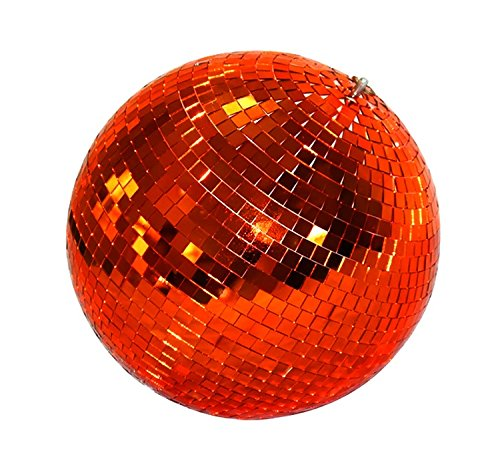 6 Inch Glass Mirror Ball For Bar Stage DJ Party Light, Silver
