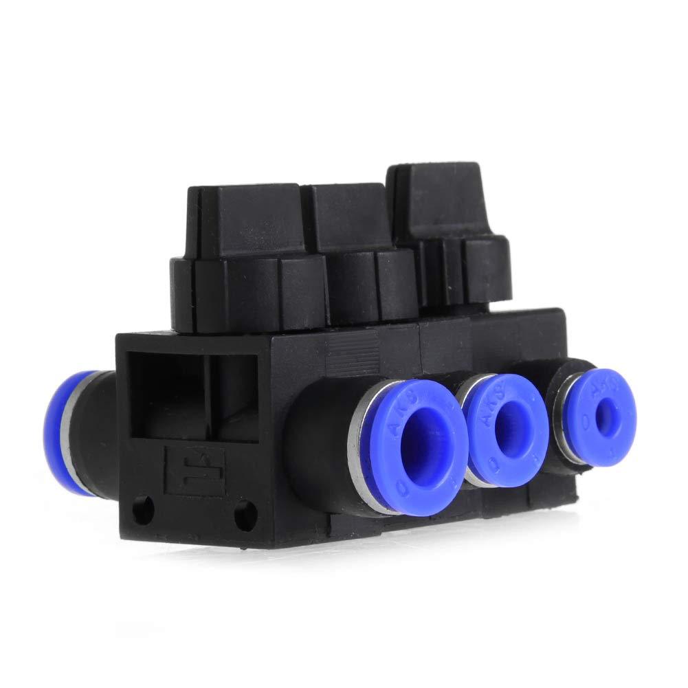 BIlinli Neumática Aire 2 vías Accesorios rápidos Empuje el Conector Tubo Manguera de plástico 4 mm 6 mm 8 mm: Amazon.es: Hogar