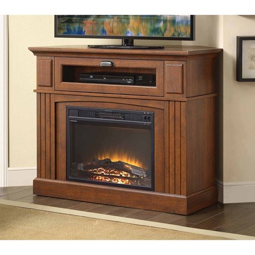 Media Fireplace TV Stand Combo for Televisions up to 45 Inches - Brown