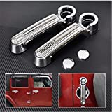 Brand New-One set 4 pcs Silver ABS Door Handle Cover Trim for JEEP Wrangler JK 2007-2016