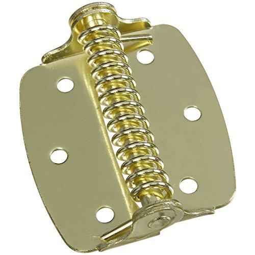Brushed Brass Spring Hinges - National Hardware N240-481 V628 Cabinet Spring Hinges in Brass, 2 pack