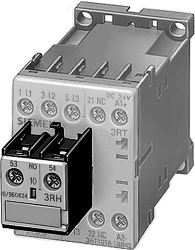 FURNAS ELECTRIC CO 3RH1921-1EA20 Auxiliary Contact Block, 10AMP, 240VAC, 2NO