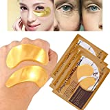 25 Pairs Collagen Eye Masks,Gold Powder Eye Masks Face Pad Anti Ageing Wrinkle Premium Crystal Gold Collagen EYE Mask Crystal Bio Anti Wrinkle Moisture Skin Care Patch Pad Dark Circles Tired Cooling Refresh Refreshing Area Relaxing Effect Sleep Fresher Looking Less Puffy