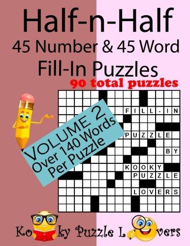 Half n Half Fill Puzzles number Word