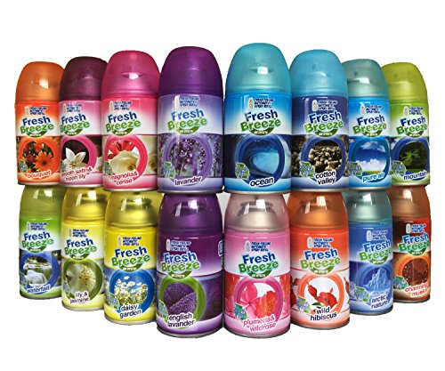 Freshmatic Refill Air Wick (Fresh Breeze Air Freshener Spray Refills 250ml Each Pack of 20 ( 17 available kinds + Assorted Option ))
