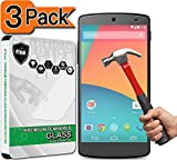 [3-Pack] Nexus 5 Screen Protector, PThink [Tempered Glass][9H Hardness][Anti-Scratch][Fingerprint Resistant][Easy-Install] Screen Protector for Google Nexus 5
