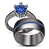 TVS-JEWELS Fashionable 925 Silver Black Rhodium Plated Channel Setting Gemstone Bridal Ring (7)