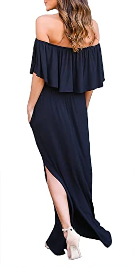 Women's Off The Shoulder Ruffle Casual Dress