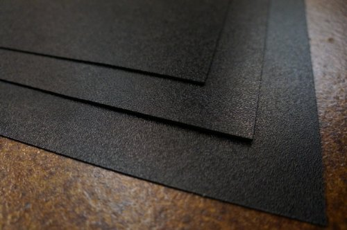 "Henta Large ABS Plastic Sheet (Black, 24""x24""x1/25"", 0.04..."