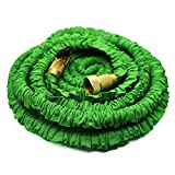 Expanding Garden Hose,Hose Lawn,KRASR 50ft Garden Hose Strongest Expandable with Double Latex Core, Solid Brass Connector and Extra Strength Fabric for Car Garden Hose with 8-pattern Sprayer Nozzle