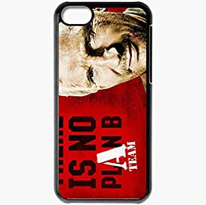 Personalized iPhone 5C Cell phone Case/Cover Skin A Team Liam Neeson face Movies Black by icecream design