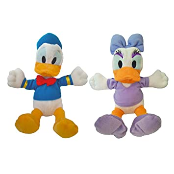 Disney Micley Mouse - Peluches Clubhouse Daisy/Donald 20 cm (pack de 2)