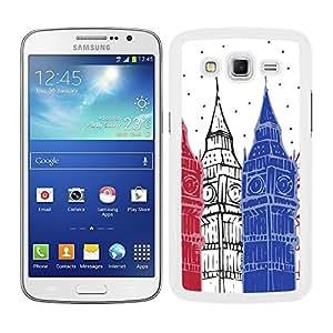 Funda carcasa para Samsung Galaxy Grand 2 diseño Londres Big Ben borde blanco