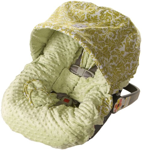 itzy-ritzy-infant-car-seat-cover-avocado-damask