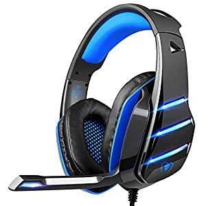 Best Epic Trends 51rmN9BvYVL._SS300_ Gaming headset for PS4 Xbox one, Beexcellent Newest Deep Bass Stereo Sound Over Ear Headphone with Noise Isolation LED…