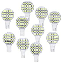Anxingo 10 pack of T10 921194 24-3528 SMD LED Bulb lamp Super Bright Cool White DC 12V 6500~7000k