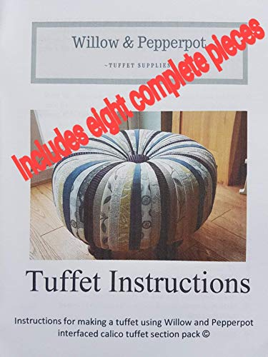 footstool tuffet pieces pack Willow and Pepperpot tuffet pattern sewing gift
