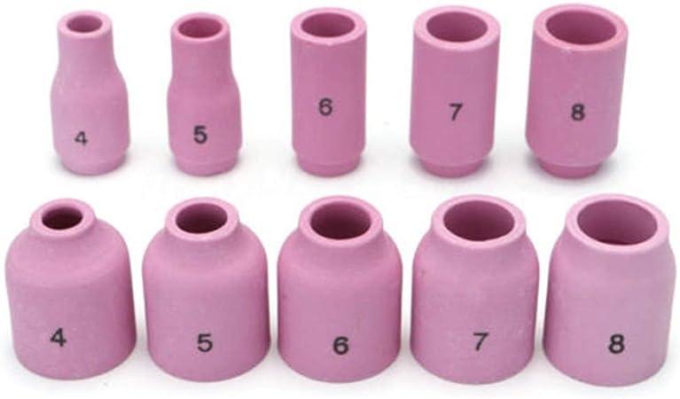 49PCS TIG Welding Torch Stubby Gas Lens #10 Pyrex Glass Cup Kit Fo //m