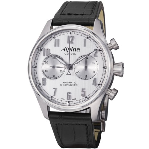 Alpina Men's AL860SC4S6 Aviation Analog Display Swiss Automatic Black Watch