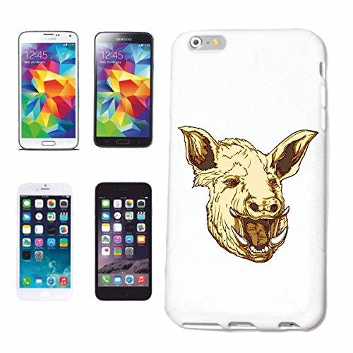 """cas de téléphone iPhone 7S """"Wildsau BOAR PIG PIG PIG PIG barbecue LUCK domestiques PIG SANGLIER PORCELETS"""" Hard Case Cover Téléphone Covers Smart Cover pour Apple iPhone en blanc"""