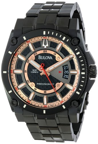 Bulova Men's 98B143 Precisionist Charcoal Grey Dial Bracelet -